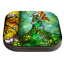 Fairy Tale Frog Prince by Mandie Manzano Coaster (Set of 4)