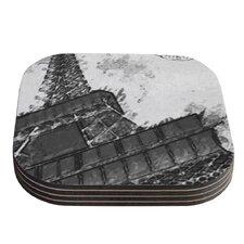 Bonjour Mon Amour by Oriana Cordero Coaster (Set of 4)