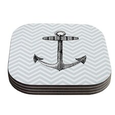 Anchor by Suzanne Carter Coaster (Set of 4)