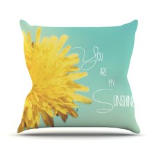 You Are My Sunshine Flower Throw Pillow