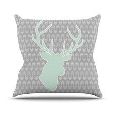 Winter Deer by Pellerina Design Throw Pillow