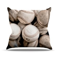On the Mound by Debbra Obertanec Baseball Throw Pillow