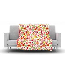 Bubbles by Louise Machado Fleece Throw Blanket