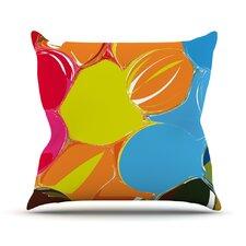 Bubbles by Matthias Hennig Rainbow Throw Pillow