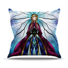 The Little Sister by Mandie Manzano Frozen Throw Pillow