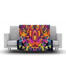 Paisley Garden by Nikki Strange Fleece Throw Blanket