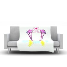 Love by Oriana Cordero Fleece Throw Blanket