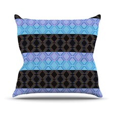 Denin Diamond Outdoor Throw Pillow