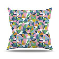 Abstraction by Project M Rainbow Abstract Throw Pillow