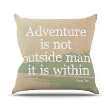 Adventure by Rachel Burbee Nature Typography Throw Pillow