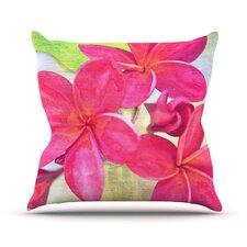 Plumeria by Sylvia Cook Flower Throw Pillow