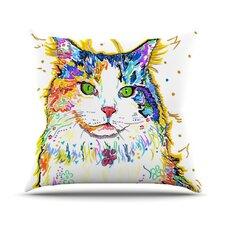 Royal by Rebecca Fischer Rainbow Cat Throw Pillow