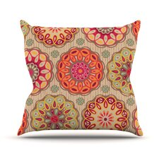 Festival Folklore by Suzie Tremel Vintage Floral Throw Pillow