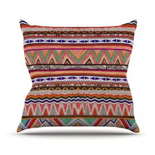 Native Tessellation by Vasare Nar Throw Pillow