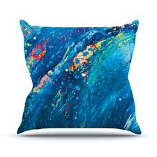 Big Wave by Theresa Giolzetti Throw Pillow