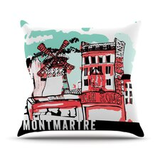 Montmartre by Theresa Giolzetti Throw Pillow