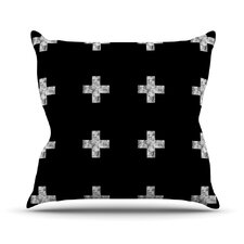 Swiss Cross by Skye Zambrana Throw Pillow