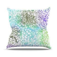 Blue Bloom Softly for You by Vikki Salmela Throw Pillow