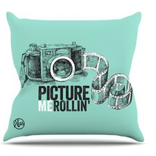 Picture Me Rollin Throw Pillow