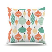 Mixed Ornaments Throw Pillow