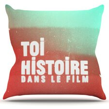 Toi Histoire by Danny Ivan Throw Pillow