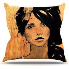 Bra by Brittany Guarino Throw Pillow