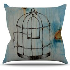 Bird Cage by Brittany Guarino Throw Pillow