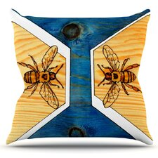 Bees by Brittany Guarino Throw Pillow