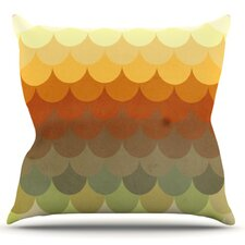 Half Circle Waves by Danny Ivan Throw Pillow