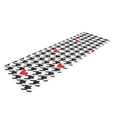 Spacey Houndstooth Heart by Empire Ruhl Yoga Mat