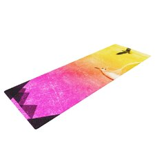 Seagulls in Shiny Sky by Frederic Levy-Hadida Yoga Mat