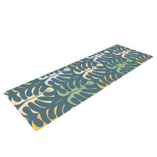 My Leaves on Blue by Julia Grifol Yoga Mat