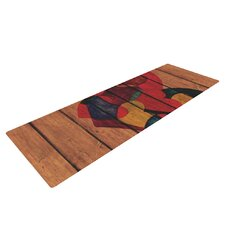 Wooden Heart by Louise Machado Yoga Mat