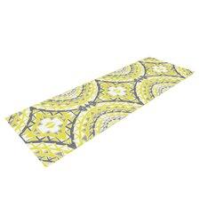 Yellow Tessellation by Miranda Mol Yoga Mat