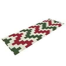 Christmas Gram Chevron Yoga Mat