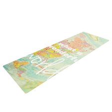 What a Wonderful World by Libertad Leal Map Yoga Mat