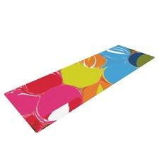 Bubbles by Matthias Hennig Rainbow Circles Yoga Mat