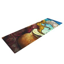 In the arms of the Angel by Mandie Manzano Yoga Mat