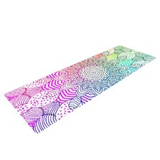 Rainbow Dots by Monika Strigel Yoga Mat
