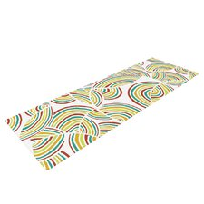 Rainbow Sky by Pom Graphic Design Yoga Mat