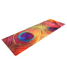 Peacock Feather by Sylvia Cook Yoga Mat