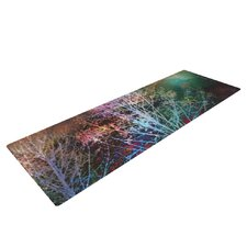 Trees in the Night by Sylvia Cook Yoga Mat