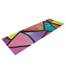Stain Glass 3 by Theresa Giolzetti Yoga Mat