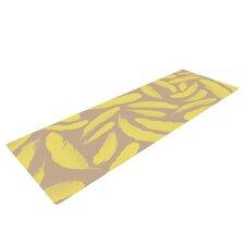 Yellow Feather by Skye Zambrana Yoga Mat