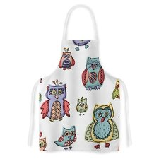Owls by Brienne Jepkema Artistic Apron