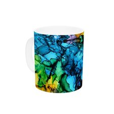 Gra Siorai by Claire Day 11 oz. Blue Ceramic Coffee Mug