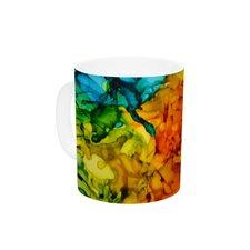 Lowry by Claire Day 11 oz. Green Ceramic Coffee Mug