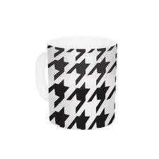 Spacey Houndstooth by Empire Ruhl 11 oz. Ceramic Coffee Mug