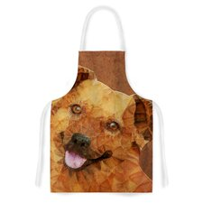 Abstract Puppy by Ancello Geometric Artistic Apron
