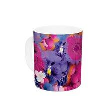 Find the Tiger by Akwaflorell 11 oz. Purple Ceramic Coffee Mug